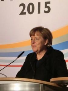 BKin Angela Merkel vor BEE-Neujahrsempfang - Foto © Gerhard Hofmann, Agentur Zukunft
