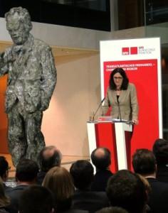 EU-Kommissarin Cecilia Malmström im Willy-Brandt-Haus Berlin - Foto © Gerhard Hofmann, Agentur Zukunft