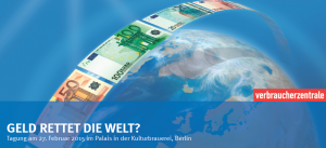 Geld rettet die Welt -  Tagungs-Logo