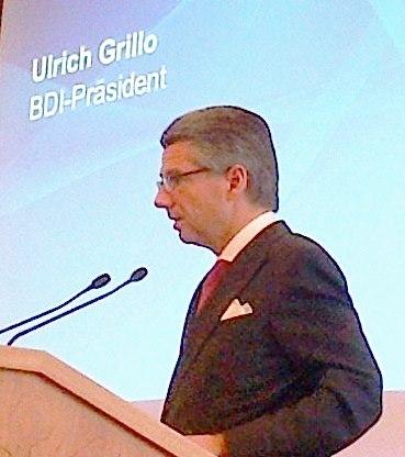 BDI-Präsident Ulrich Grillo 20130313  Foto © Gerhard Hofmann, Agentur Zukunft
