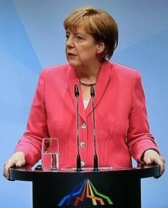 Angela Merkel in Elmau - Screenshot © br.de