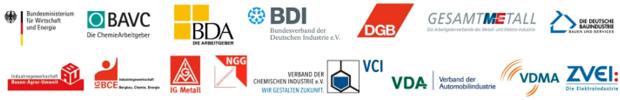 Bündnis Zukunft der Industrie - logos der Partner
