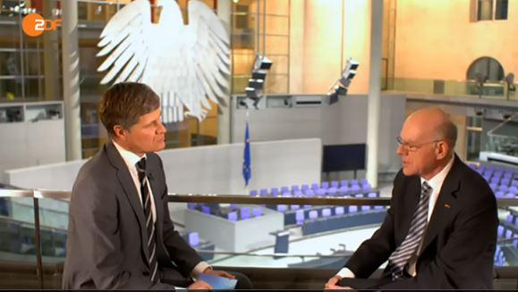 Lammert im ZDF-Interview - Screenshot © heute.de