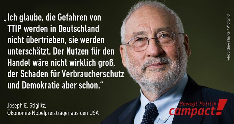Stiglitz-TTIP-Zitat - Foto © campact_picture alliance_Photoshot