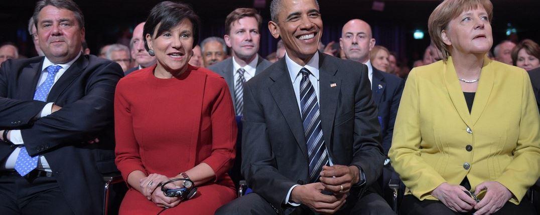 Neben Barack Obama und Angela Merkel warben auch US-Handelsministerin Pritzker und Bundeswirtschaftsminister Gabriel für TTIP - Foto © Messe Hannover