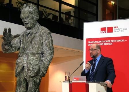 Martin Schulz im WBH zu CETA und TTIP - Foto © Gerhard Hofmann