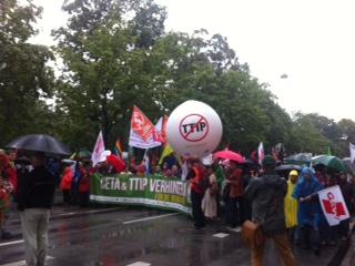 Anti-Ceta-TTIP-Demo in München - Foto © Evi Neukum