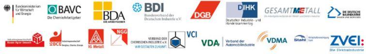 Bündnis Zukunft der Industrie - Logos der Mitglieder