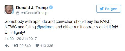 Trump-Tweet contra NYT