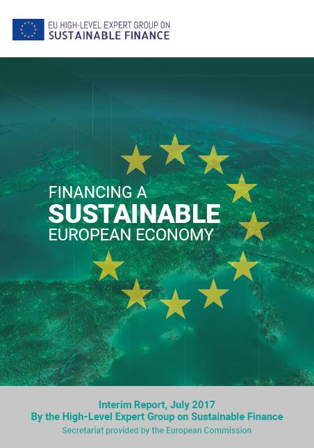 Zwischenbericht der High-Level Expert Group on Sustainable Finance - Titel