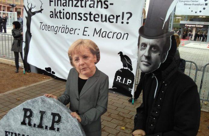 Protest gegen FTT-Absage - Foto © Attac